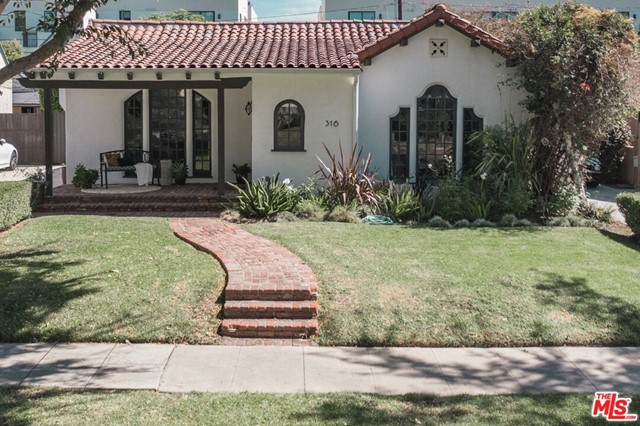 This soulful and emotionally engaging, REMODELED, single story, 3-bedroom Spanish home sits proudly on the coveted 300 block of S. Crescent Dr., less than three blocks from the heart of one of the most popular and famous shopping, retail, fashion, dining and lifestyle districts in the world - the Beverly Hills Village. The home boasts a wonderful open floor plan layout with living room, den, dining room and remodeled kitchen featuring Thermador pro-style appliances (6-burner plus griddle range, refrigerator and dishwasher), in addition to a Monogram wine refrigerator. The primary bedroom suite is masterful and features two walk-in closets and a beautiful, remodeled spa-like bath with freestanding tub and heated floors. There are two additional ample-sized guest bedrooms (one of which is en suite and has heated floors and the other has a full bath conveniently located directly across the hall). Gorgeous hardwood floors bring a warm, organic and contemporary aspect. Numerous windows and skylights bathe the interior with motivational natural light. Tesla car charger included.