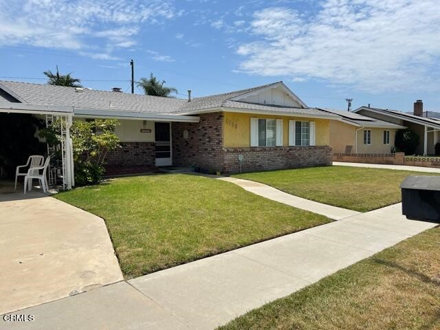 Single story 1688 sq ft, 3 bedrooms, 2 baths  home on a 10,000 plus sq ft lot.This gem has something for everyone with hard-to-find features. Inside: a useful kitchen bar, upgraded cabinets and countertops, central air and heating, dual pane windows, stain glass front door, grab bars in master shower, double water heaters, two fireplaces. Front yard: a covered car patio. House north side: driveway leading to the backyard's detached 2 1/2 cars garage with work bench and shelving. House south side: driveway leading to a forty-foot detached RV garage to include 30 amp RV plug in, 220 volt plug & RV sewer dump out side the gate. Wow! Abundant legal parking for a boat, motor home, and many more toys.  Back yard: covered patio, garden shed, and still plenty of area for entertaining and children playing. House has working solar panels with power going into the grid. This home is located in a wonderful quiet neighborhood of central Simi Valley and within close proximity to schools, restaurants, and shopping. You will love the delightful smell of citrus blossomsTrust Sale and sold as is! Buyer to verify to their satisfaction  all aspects of the property.