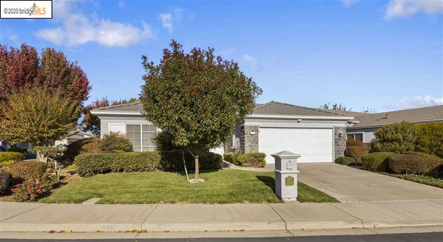 Located in Summerset I, a 55+ adult gated community. This single-story home is situated on a corner lot and features an open floor plan with high ceilings, lots of windows and plenty of natural light. The Formal Living Room and Dining Room open to a cozy Family Room and additional dining area. The Kitchen features Granite slab counters, a gas burning range and ample storage space. The spacious Bedroom 1 provides access to the rear patio. Bathroom 1 boasts a walk-in closet, dual vanity sinks, a shower and a walk-in sauna. Large indoor laundry room includes a utility sink. The spacious two car garage has a built-in work bench and additional storage cabinets. Private back yard consists of a partially covered patio and BBQ enclosure. Amenities in this active adult community include pool, spa, tennis and bocce ball. For a 3D virtual tour visit www.galalane.com