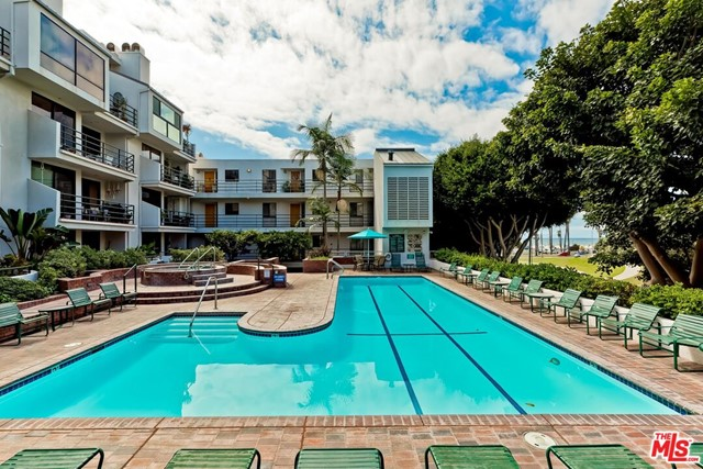 Enjoy cool ocean breezes from this private, end, corner unit at The Sea Colony II.  Spacious 2b/2b with open living room, dining, kitchen, and den.  Large deck off primary bedroom and living room oriented toward the ocean and ocean view park.  Enjoy peek-a-boo ocean views and sunsets through the gorgeous shade trees. Second deck off the dining area with views of Santa Monica hills. Primary bedroom with walk-in closet and remodeled marble bath.  Hardwood floors, granite counters in the kitchen, washer/dryer in the unit and central air/heat.  Security building with guard, 2 car underground secured parking, storage unit, electric car charging, gym, beautiful pool and 3 spas.  Amazing location that is just steps away from the beach, Ocean View Park, South Beach Park, bike paths and the shops and restaurants on Main Street, Abbot Kinney, and the 3rd Street Promenade.  Enjoy full-time or as a weekend retreat!