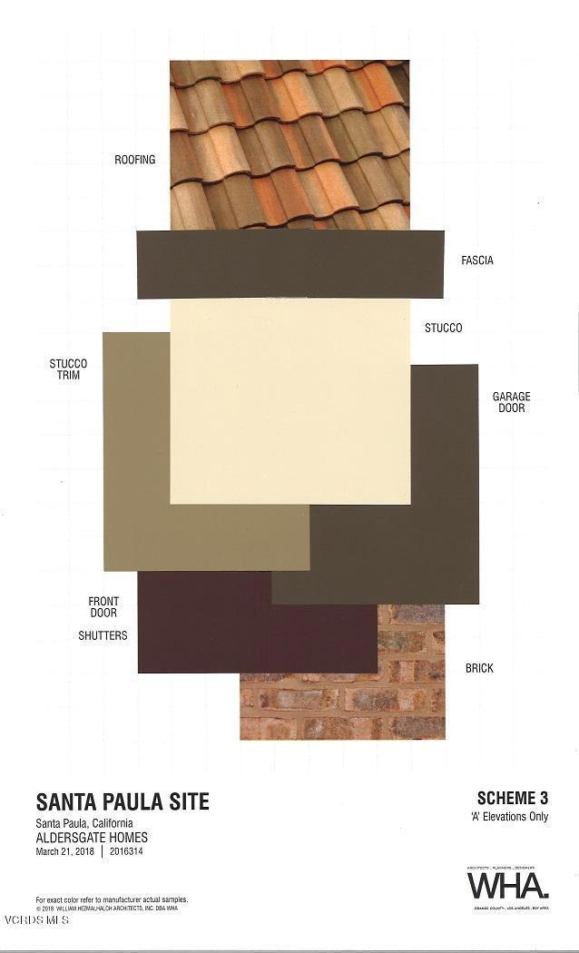 Materials and Colors Scheme 3-- A Elevat