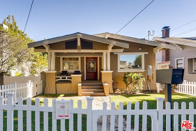 Vintage 1912 bungalow painstakingly upgraded with new bathrooms, top-of-the-line kitchen upgrades and appliances, Smart Home features, new Ring security system, new HVAC and much more. Main house is 2BR/2BA/1,125sf. Detached two-car garage includes 2nd level, remodeled 352 sq. ft. 1BD/1BA apartment with kitchenette, washer/dryer and AC - perfect for a home office, live-in nanny or private guest accommodations. This property includes a spacious back yard, ideal for entertaining, relaxing or enjoying the sea breeze. Located on a quiet street lined with mature trees, you can walk or bike to the beach, Main Street shops and cafes or popular Rose Avenue.