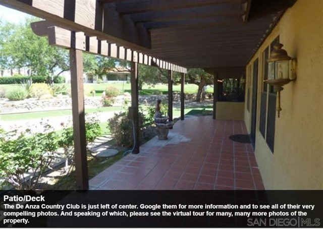 The De Anza Country Club is just left of center. Google them for more information and to see all of their very compelling photos. And speaking of which, please see the virtual tour for many, many more photos of the property.