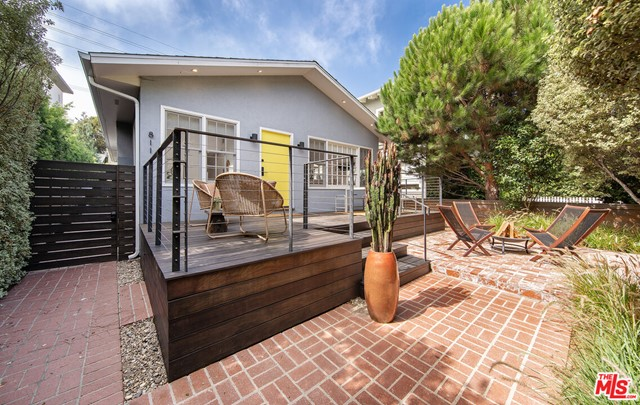 This is an extremely rare opportunity to own a secluded, private home on the famed Walk Streets of Venice. Located in the sought-after 800 block, this newly-renovated 1929 bungalow has a lot of serene, beautifully-landscaped outdoor space.  Its the best of indoor/outdoor California living!  Recent renovations include new kitchen with stainless steel appliances, range, Ceaserstone countertops, and custom cabinetry.  The kitchen opens up into a spacious living space with vaulted ceilings, skylights, recessed lighting and large windows, providing a sun-drenched experience.  Large master suite includes en suite bathroom, and opens up onto the large back deck.  Features hardwood floors throughout, tons of closet space, new HVAC/heating system and new ceiling fans in both bedrooms. There is a detached, finished 250+ sq. ft. studio which can serve as an office, one-car garage or playroom (includes heating and AC).  Both the large front and back decks are provide a quiet, secluded space for you to enjoy morning coffee or entertain friends at sunset.  The new landscaping and irrigation system are maintained weekly.  Best of all, you can walk to the popular shops, restaurants and cafes of Abbott Kinney Blvd. and Rose Avenue, or stroll over to Superba Food & Bread or Deus Ex Machina for coffee or morning pastries.  Just a short bike ride to the beach, Venice Pier, Santa Monicas Main Street and much more. Seller updates/highlights: Home built in 1929 yet newly renovated/updated. New roof. New foundation. Newly renovated bathrooms. Newly renovated kitchen with new stainless steel appliances and caesarstone countertops. New velux remote opening skylights. New front yard and backyard decks. Large master bedroom with ensuite bathroom. Capability to open up wall in living room to expose wood burning fireplace. Exclusive walk street address. Quiet & secluded walk street location - only a few streets of it's kind in Venice. Amazing natural light. Custom linen roman shades & draperies.