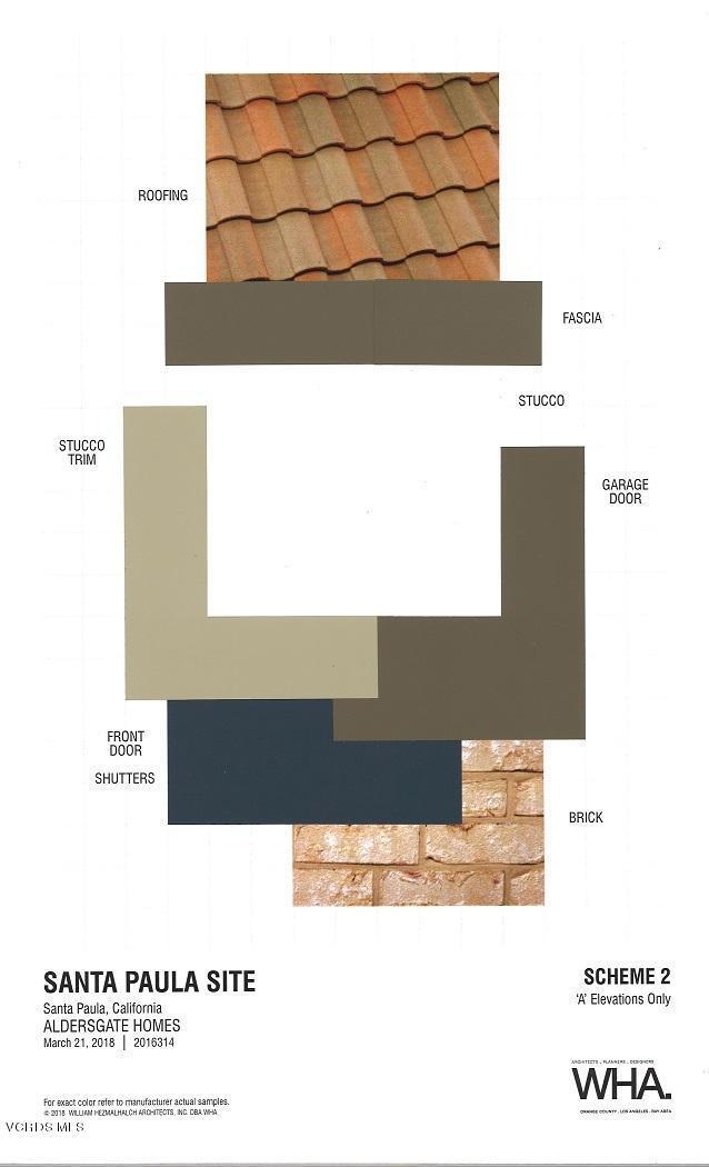 Materials and Colors Scheme 2-- A Elevat