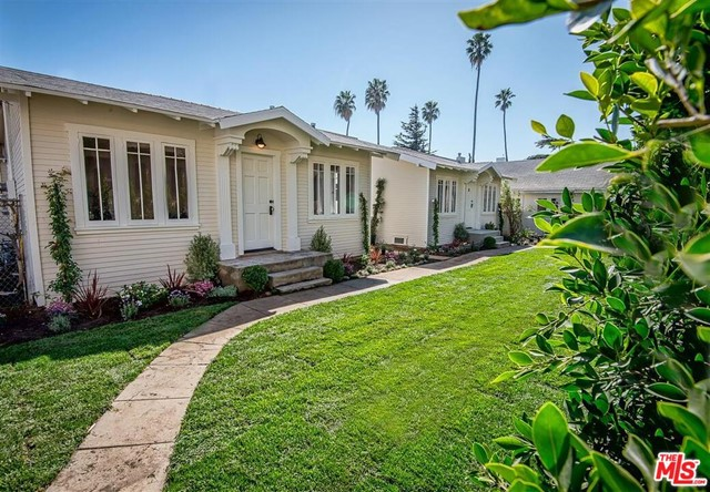 An exclusive opportunity for an investor or owner-user to own a stellar triplex in the prime North of Wilshire neighborhood in Santa Monica, walking distance to the beach, Montana Avenue, and Third Street Promenade. This stunning property consists of three freestanding historic bungalows, recently restored with meticulous attention to design, details, and materials used. Front house is a two-bedroom, one bath, featuring dining area built-ins, a built-in breakfast nook, huge private front yard and side yard, washer/dryer, and vintage touches throughout. The two homes in the back are both one bedroom, one bath, each with service door and laundry off the kitchen, and a large yard overlooking beautiful landscaping and lush privacy hedges. Parking for up to 6 cars on this gated landmarked property, which is under a Mills Act contract, and one unit may be delivered vacant. A trophy asset for an investors diversified portfolio, these units are highly rentable at maximum market rates.