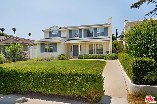Welcome home to this charming two-story Traditional home on 8,764 sq ft lot in Prime Santa Monica that has been in this family for a generation.  The home is located on the coveted Palisades Avenue known for its wide tree lined street West of 7th Street just steps to the Ocean Avenue Bluffs and all the shops and restaurants on the famous Montana Avenue.  Enter the lovely entry that leads to a large living room which opens to a sun filled conservatory room overlooking the peaceful yard and pool.  A spacious formal dining room and breakfast room off the kitchen both overlook the backyard and pool.  The first floor also has a 5th bedroom or den with a 3/4 bath and a laundry room.  Upstairs is a spacious primary bedroom and full bathroom and three additional bedrooms and two bathrooms.  This property lends itself to a terrific rebuild or remodel in Santa Monica's finest neighborhood.
