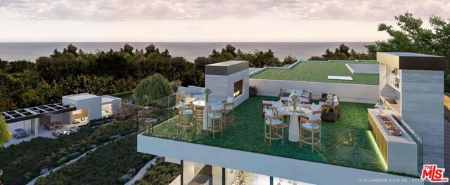 $600,000 PRICE REDUCTION: Skip the 3-4 year wait for plans and permits and start building this entertainer's paradise immediately after closing! The time is now to build on this approved, permitted, and shovel-ready 1.56 acre ocean view lot in Malibu. With plans designed by acclaimed architect Doug Burdge, this modern-yet warm-estate sits on a quiet cul-de-sac and features breathtaking, panoramic views of the coast. A gated drive would lead to a custom-built 7,152 sq.ft. main house, which is substantially set back from the road. The residence's interiors gleam with wood paneling and floors. The finished product would include an ocean-view infinity pool, private spa, and endless landscaping options. A 904 sq.ft. detached guest house is on the opposite side of the estate. Garage and carport encompass 1,151 sq.ft. Conveniently located in the center of Malibu, close to the Malibu Country Mart, Nobu, Soho House, and Whole Foods.