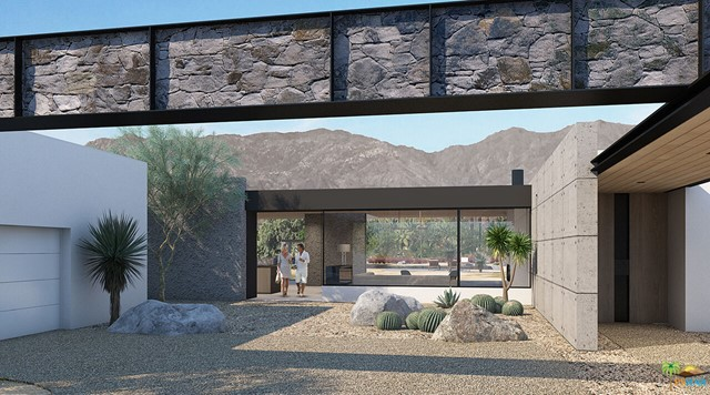Sean Lockyer and Studio ARD has designed and helped to create the hands down the most authentic architectural project to be completed in many years. Echo's ''bold world architecture'' becomes one with its rugged yet majestic desert surroundings. Flooring flows from interior to exterior and out into the landscape creating a striking interaction between home and nature. Native flora edges up to the living areas to further join the two. Mountainous panoramas are framed by expansive walls of glass in the spacious great room and master bedroom, engaging the distant vista as well as the near. In a clean, crisp design technique, walls continue from the indoor spaces to the outdoors in one, long beautiful sight line. This is floor plan 1. Homes are under construction with anticipated completion of Fall 2022.