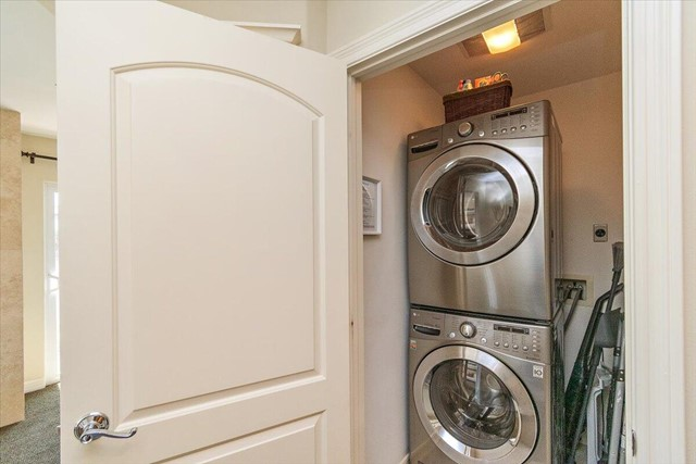 Laundry closet off master