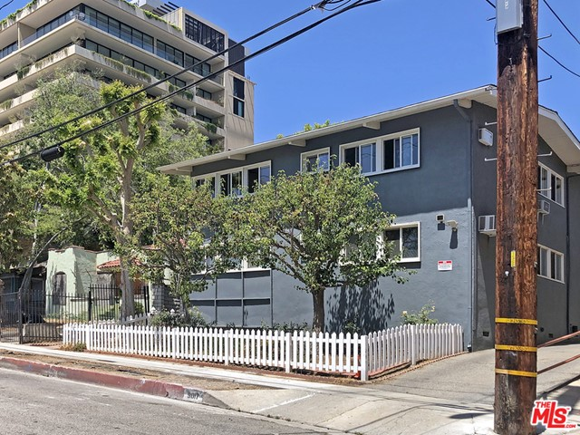 8 Unit Apartment Building in a Prime West Hollywood location. Building is 5312 square feet, built in 1953 and sits on a 7,500 square foot lot. Premier Location just off of Sunset Boulevard in the heart of the famous Sunset Strip, walking distance to everything, trendy shopping, dining and nightlife. Individually metered for gas and electric. Gas Shuts are installed. Charming, well maintained. Open Parking for 8 spaces located behind the property and will NOT require seismic retrofitting. Centrally located in a high demand area. Just on the border of Beverly Hills and West Los Angeles. Great opportunity to add value in a prime location. Drive by only, do not disturb the tenants. View inside of units with accepted offer only. Please see our Offering Memorandum for full details and information.