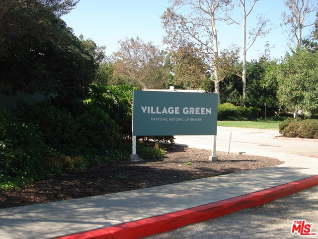 Village Green is a national landmark and offers outdoor walking areas that are surrounded by well-maintained landscaping and other features in the area the metro rail, Kenneth Hahn State Park, and Culver City.  This is a first-floor unit that offers easy access from the front and rear of the unit with a large living room and bedroom with two closets.