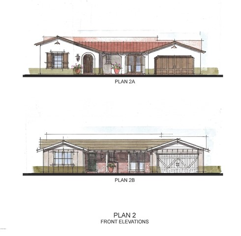 Plan 2A and 2B Front Elevation cropped