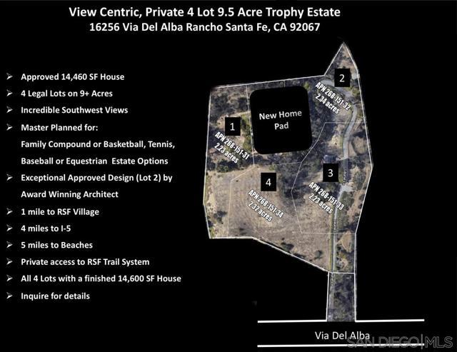 Photo of 16256 Via Del Alba #4 LEGAL PARCELS, Rancho Santa Fe, CA 92067