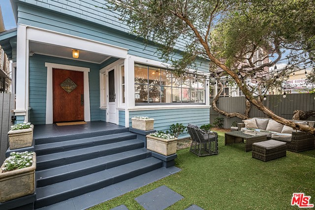 Surfer, Artist, Foodie - Welcome Home. Historic 1910 Craftsman is just steps from the sand in world famous Venice Beach. Known for being sophisticated and trendy with a laid-back vibe, Venice is home to the arts, fashion, food and tech. Updated Boho bungalow with vintage features intact: solid oak front door, lead glass windows, wood floors, window seats, finish cabinetry, and bay windows. Sunny enclosed front porch opens to the living room with fireplace, dining room and large eat-in chefs kitchen.    Lots of outdoor space; a gated, private front yard plus large back deck. Steps from the back deck, the main bed, bath and walk-in are spacious. Two additional large beds and baths are also upstairs. 1 car garage plus gated driveway for 2 cars. But, be a free-spirit: walk to the off-leash dog park or farmer's market. Stroll along the Boardwalk or along the Canals.  Shop and dine on Abbot Kinney Blvd., voted one of the 10 Best destinations in USA Today.