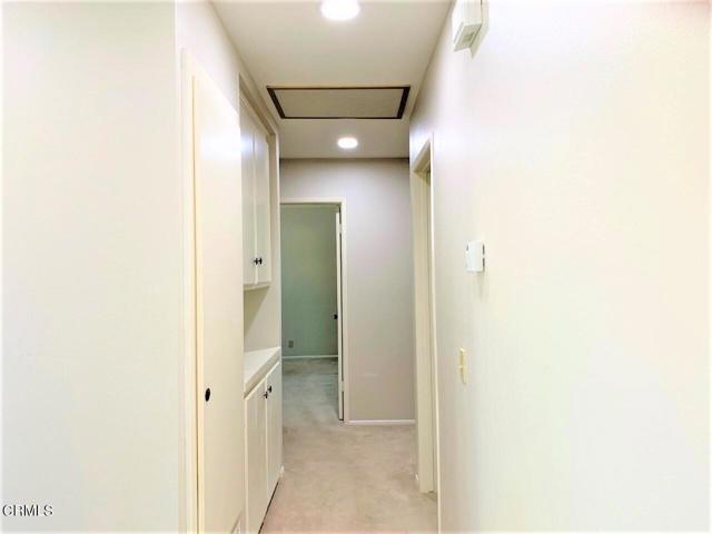 Recessed lighting and linen closet