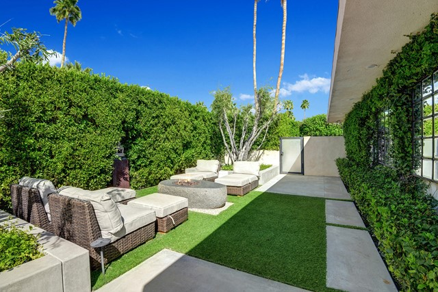 SIDE YARD WITH FIRE PIT ANGLED MLS
