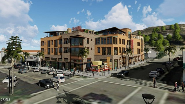 Real Investments is pleased to present The Anacapa Court Development for Sale with City Approved Discretionary Entitlements. Located in the Downtown Core Main Street of Ventura, California. 297-299 E Main Street. Joint-Venture opportunity. Seller will consider retaining the commercial development component. Anacapa court is a mixed-use in-fill project with 24 dwellings arranged around a central courtyard and atrium space over a podium. 33 residential parking spaces and 8 commercial parking spaces are located within the podium, along with bicycle parking. ground-floor commercial uses front onto main street with partial commercial on palm street. 3-stories of residential over the commercial provide for a variety of residential dwellings, including 4 inclusionary dwellings and 4 penthouse dwellings. dwellings will share access to a common rooftop terrace with views over the downtown and the pacific coast. Approx. 21,845 SF Lot, Approx. 32,960 SF Residential, Approx. 3,850 SF Commercial. May be built-out as Condos for Sale or Apartments. This is the only vacant lot within Downtown Core Main Street!