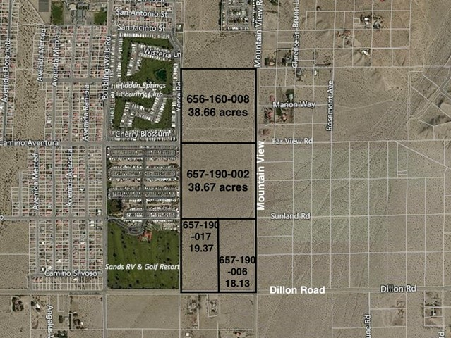 Listing Details for 114 Acres Dillon & Moutain View, Desert Hot Springs, CA 92241
