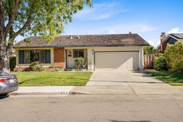 837 Gladiola Drive, Sunnyvale, CA 94086