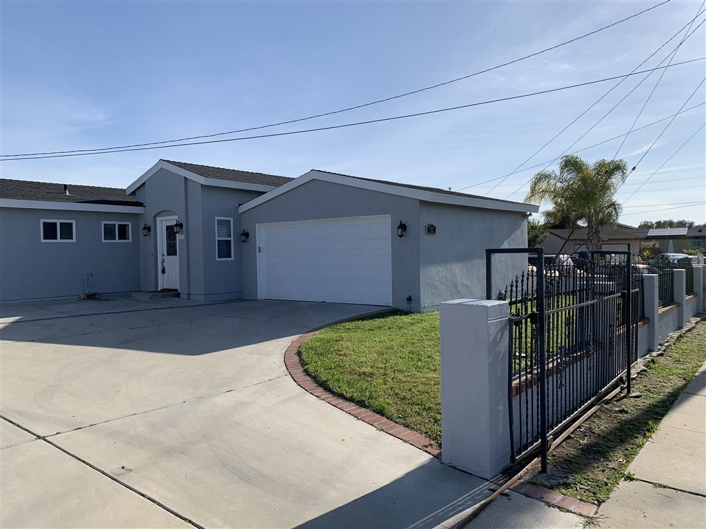 Must See Remodeled New Exterior Paint. Home has over 2,000.00 sq Feet! with over 7,000.00 sq foot level lot, Don't let the age of this home worry you as all of the electrical and plumbing have been upgraded. Roof six years old,  This is like a model home with no mello-Roos, or HOA Fees. Upgrades include Brand New water Heater installed last month, forced air heater , crown molding throughout. Upgraded Flooring, RV Parking possible ADU Garage with bath. Garage has finished drywall  Must See Remodeled ! Seller has just Repainted the Exterior Stucco A light Grey. Home has over 2,000.00 sq Feet! with over 7,000.00 sq foot level lot Exceptional Remodeled one story home. 10' high Ceilings with Crown Molding throughout Kitchen has beautiful Black Corian counter tops, remodeled custom cabinets, Stainless steel appliances. New Dishwasher, self closer cabinets. a large pantry cabinet, a lazy Susan. New Recessed LED  lighting throughout, new switches with dimmer switches. New Ceiling Fans. New Bathtub shower doors. Over 2000 sq ft of wood-like porcelain tile floors throughout . All new Extra wide Base boards throughout. Master Bedroom has been enlarged from the 5th bedroom showing on (County Records) into a beautiful master suite with walk in closet. Remodeled master Bath, custom paint throughout. New Front door with Lead Glass. Vaulted Ceiling Entry. Enjoy the large back yard with room for large gatherings and room for fire pit. Don't let the age of this home worry you as all of the electrical and plumbing have been upgraded. Roof six years old,  This is like a model home with no mello-Roos, or HOA Fees. Upgrades include Brand New water Heater installed last month, New Plumbing, Upgraded Electrical, forced air heater. New Insulation throughout. Possible ADU in Garage, its all dry walled with a 3/4 bath..  Neighborhoods: Chula Vista Other Fees: 0 Sewer:  Sewer Connected, Public Sewer Topography: LL