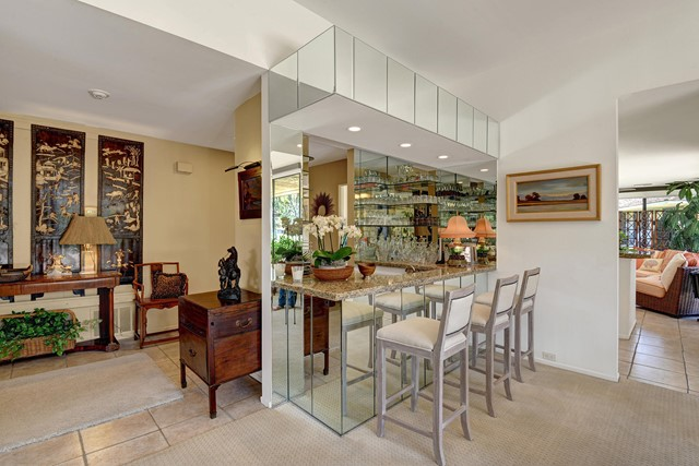 ENTRY HALL AND WET BAR