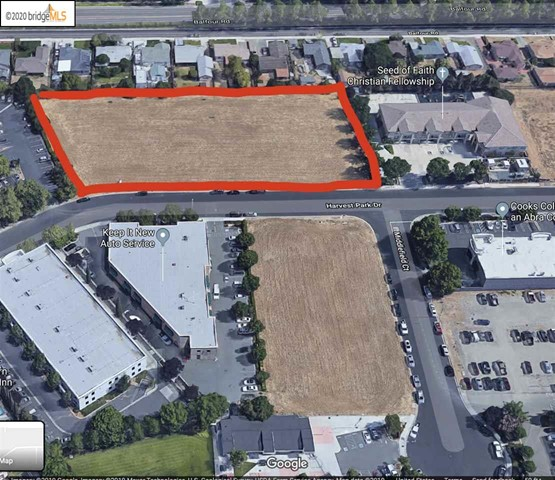 Rare commercial lot with approved plans!!!!  Plans include a +/_ 20,000 sq ft  building. Lots are being offered separately for sale as well. (2) APNs combined for 2 acres of building space.  Site also planned for a school on (1) acre parcelPrime vacant land!  Borders quality single family homes.  Central location to all amenities