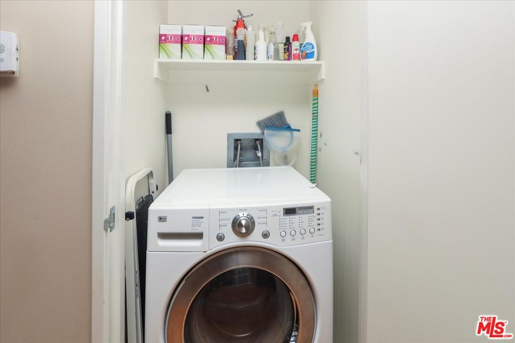 Washer/dryer combo in closet