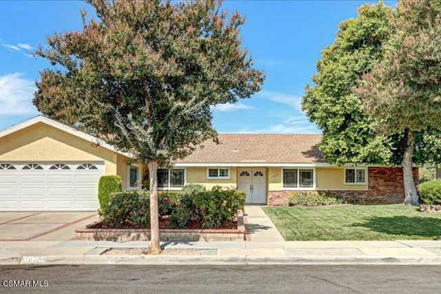 Lovely Single Story In Central Simi w/ Very Nice Curb Appeal. Concrete Driveway w/Brick Accents & A  Rose Garden Leading You To A Double Door w/Glass Inserts Entry. The Newer Dual Pane Windows  Give It An Extra Appealing Look. This Light and Bright Home w/Over 2,000 sq.ft. Shows True Pride of Ownership. 4 Bedrooms, 2.5 Baths.  The Formal Living Room Has A Raised Hearth Fireplace, Custom Mantle & Built In Cabinet, Recessed Lighting, Ceiling Fan, Crown Molding, Dual Pane Sliding Doors That Lead You To The  Large Back Yard! Separate Spacious Family Room (Used As Formal Dining) Also Has Recessed Lighting, Crown Molding,  Chair Rail Molding, Ceiling Fan Plus Another Set Of Dual Pane Sliding Doors For Easy Back Yard Access. Kitchen Has Nice Oak Cabinets & A Pass Thru Opening For Convenience to FR/DR. It Also Has Spacious Dining Area and Breakfast Bar, Ceiling Fan, New Garbage Disposal and Newer Dishwasher. It Opens To the Indoor Laundry Room  w/ Access to The Back Yard And Half Bath . The Hallway Bathroom Has Been Completely Remodeled w/ Quartz Countertops w/ New Dual Sinks, Oversized Duravit Bathtub, Moveable Shower Head & All Plumbing Has Been Replaced In it The Master Bedroom Has Crown Molding & Ceiling Fan and 2 Closets One In The Bedroom And The Other In The Vanity Area. The Master Bath Has Also Been Remodeled w/ Quartz Countertops w/New Dual Sink And A Built in Movable Lighted Mirror. All Electrical Outlets Have Been Upgraded In Both Bathrooms.  All Interior Doors Have Been Replaced W/ Raised Panel Doors. Some of The Other Interior Upgrades Include Beautiful Laminate Flooring Throughout,  Ceiling Fans In All Rooms Except Bathrooms & Laundry, Dimmable Lighting In Den & Living Room. Smooth Ceilings Throughout.The Large Back Yard Is Laid Out So Nicely To Enjoy And Relax , It Has An Oversized Patio w/ Solid Cover w/ 3 Ceiling Fans, 3 Sun Shades Perfect For Entertaining, Also Good Size Section of Pavers Creates Additional Patio, Beautiful Garden w/ Many Different Flowers