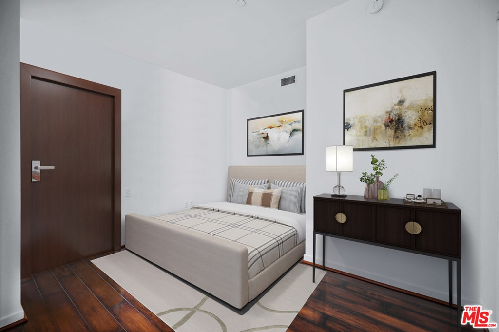 Bedroom shown enclosed staged