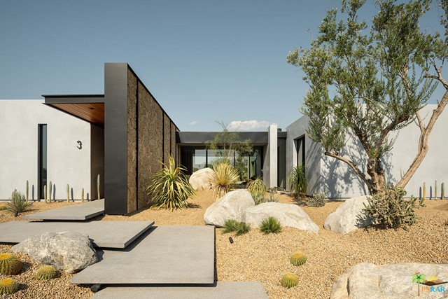 Sean Lockyer and Studio ARD has designed and helped to create the hands down the most authentic architectural project to be completed in many years. Echo's ''bold world architecture'' becomes one with its rugged yet majestic desert surroundings. Flooring flows from interior to exterior and out into the landscape creating a striking interaction between home and nature. Native flora edges up to the living areas to further join the two. Mountainous panoramas are framed by expansive walls of glass in the spacious great room and master bedroom, engaging the distant vista as well as the near. In a clean, crisp design technique, walls continue from the indoor spaces to the outdoors in one, long beautiful sight line. This is floor plan 3 with a detached casita. Homes are under construction with anticipated completion of Fall 2022.
