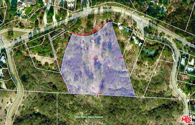 Take this generational opportunity to purchase this incredible and significant almost 9 acre parcel of land across from Mulholland Estates. The site of Don Henley's former home offers you the chance to build a world class private estate on one of the largest parcels available in the area. This stunning promontory offers an exceptionally rare combination of size, location and unsurpassed privacy. A long 125 foot driveway opens to spectacular grounds that once landscaped will offer a parklike setting with city lights, canyon and ocean views. Enjoy your own private walking trails amongst your own forest of trees. What a wonderful opportunity to capture the essence of indoor/outdoor living in a private location yet minutes from city life. If by chance you want to save time and money to build a modern estate, there are completed plans from a world renowned architect from London. This is truly an opportunity not to be missed!