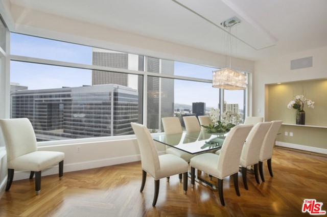 """Gorgeous, remodeled 3bd+4ba condo in LA's prestigious full-service bldg. Lrg open, light & bright great rm w/ hrwd flrs, fireplace & amazing views of Century City & Los Angeles Country Club. Show stopper kitchen w/ 2 Wolf Microwaves, Subzero fridge/freezer, Miele dishwasher, Perlick wine fridge, a beautiful center island & lrg terrace w/ great views. Beautiful mstr ste w/ 3 lrg closets, including a lrg walk-in closet, a balcony w/ views of Beverly Hills, the Hollywood sign, downtown LA, mountains & more, & a lrg mstr ba w/ marble hot tub, large shower, dble sinks & add'l great views. Beautiful 2nd bdrm ste & bath w/ designer touches, a theater rm w/ 101"""" screen & marble bar w/ the wine fridge, glass chiller, beverage fridge & frige drawers for max entertainment, & w/ its own bathrm. Sep powder rm & laundry. And top-of-the-line technology thru-out. The Century property consists of nearly 4 acres of park-like grounds and consists of many amenities. 24 hr concierge, doormen & valet."""