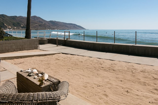 The opportunity of a lifetime awaits you at this beachfront property!!! Single-story home features 3 bedrooms and 1 3/4 bathrooms, sits on an almost 8,000 sq. ft. lot right on the highly desirable 'Faria Beach' sands, with stunning views of the Channel Islands. Open floor plan with wide oversized glass windows allowing you to witness dolphins through the breathtaking ocean views right from your living and dining room. BBQ with family and friends all summer long while you await breathtaking sunsets. Spectacular whitewater views with soothing ocean sounds call you in this California Style Bungalow located just a short coastal drive to Santa Barbara.