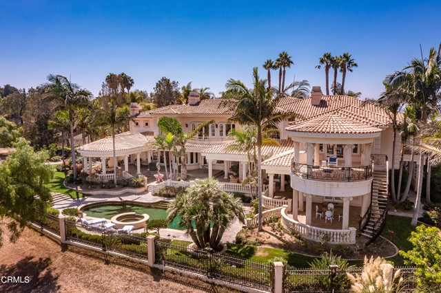 We proudly present a property like no other in the exclusive golf community of Spanish Hills. Palazzo D'Oro derives its name from the Venetian-inspired architectural style, featuring frescos, stonework, and marble designs, created by the Italian masters credited for The Venetian Resort in Las Vegas who were flown-in especially to craft this majestic home.As soon as you set foot into the Palazzo D'Oro you are immediately swept away by its grandeur. Enter into a detailed marble floor foyer with a gorgeous double staircase and stunning glass chandelier that leads into the receiving room with 22-carat gold leaf crown molding; every room is designed to leave an impression. This estate features a library/study, billiards/lounge room, 13 seat home theatre, formal dining room with hand-painted frescos and gold chandelier, a primary suite with his and hers individual spa rooms, which also include a steam shower and gym. If that was not enough, there is also a meditation room,  pebble tec pool, hot-tub and an enviable Viking-equipped kitchen to complete this remarkable residence.  Following the Mediterranean design, every room on both levels provides access to the outdoors with 270 spectacular views of the 17th & 18th fairways, valleys and mountains.Palazzo D'Oro exceeds all expectations for the discerning luxury home buyer. With close proximity to the Camarillo Executive Airport, you can work anywhere and still benefit from the privacy of this luxurious retreat. The elegant classic design meets the modern needs of its residents in every room and every detail. Palazzo D'Oro is the only property within Spanish Hills Country Club with exclusive direct access to the scenic 18-hole championship golf course designed by renowned architect Robert E. Cupp, ASGCA. Live the elegant life you have always wanted at Palazzo D'Oro.Call today to schedule your VIP tour of this spectacular estate.