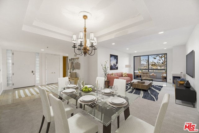 Spacious 3 bed, 2  bath condo in sought after Park Place, in the heart of Century City.  Light and bright condo with spacious living and dining areas.  Fireplace and balcony off living room.  Cooks kitchen with breakfast area and separate laundry room.  Large master suite with ample closets.  Master bath has separate shower and tub as well as double sinks.  Two additional bedrooms share a hall bathroom.  There is also a powder room.  There is a gym in the building, 3 swimming pools and 4 tennis courts.  2 side by side parking spaces.   This guard gated community is made up of 6 buildings and a circular driveway connecting them.  This unit is located in the newest building, 6.  Ready for immediate lease.