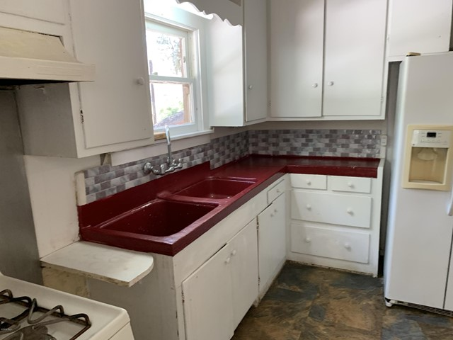 painted concrete kitchen counter