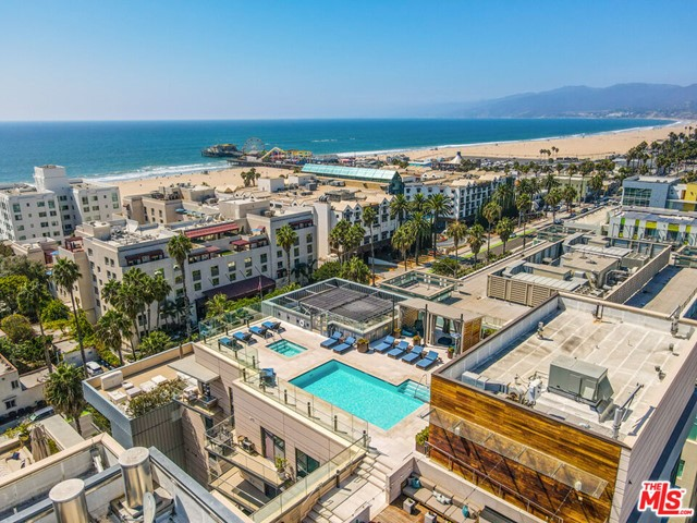 Welcome to The Seychelle, one of Ocean Avenue's newest full-service buildings and the height of luxury living.  Located across the street from world famous Santa Monica beach and just moments from Main Street, Santa Monica Place, 3rd St Promenade, and the Pier, the options for outdoor activities, shopping, dining, and sight-seeing are unmatched. Like a 5-star luxury hotel, you are welcomed by a 24-hour concierge on your arrival. Enjoy amenities such as a first-class roof top pool and spa, surrounded by cabanas and epic coastal views. The roof-top deck also includes two outdoor dining/entertaining areas and event suite with full kitchen just ready for your caterer and guests.  A fitness club on the 3rd floor with professional-grade weight-lifting and cardio equipment including Peloton, a private yoga/pilates studio and an expansive sun deck overlooking Ocean Ave.  A gorgeous 2br/2ba condo featuring open, contemporary design, high-end finishes and a gourmet kitchen outfitted with full Thermador appliance package. Primary suite with sitting/office area and luxe en-suite bath. Spacious second bedroom and full bath. Inside laundry. 2-car side-by-side assigned parking, ample gated guest parking, storage room. Building offers 24-hour doorman, bike storage, package delivery, and a pet spa! The Seychelle is not just a home, but a destination.