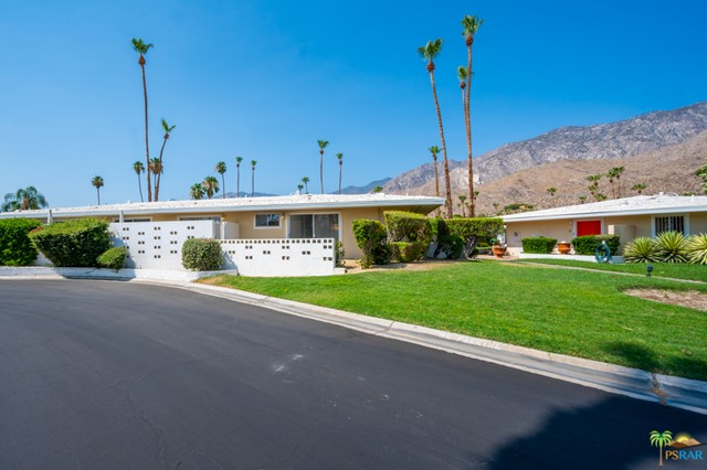 VIEW VIEWS AND MORE VIEWS on this ideal location of this beautifully remodeled unit at Canyon Country Club Colony. This Mid-Century Gem is located in the amazing South Palm Springs neighborhood surrounded by multi million dollar homes. This single level home was meticulously restored featuring updated kitchen , baths, flooring and lighting making this move in ready. This community of only 38 homes on 4 acres has 3 pools and spas. This unit features multiple patios and 270 degree mountain views from all rooms...STUNNING ! This complex is located minutes from hiking trails, restaurants and all that downtown Palm Springs offers. AC unit was replaced in 2018 . Two car covered parking close to unit and additional storage unit.
