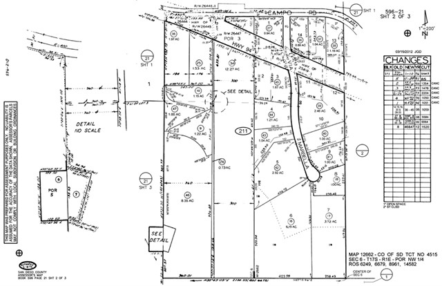 94 E 1/2 Mile East Millar ranch Rd. S. side top of hill, Spring Valley, CA 91978