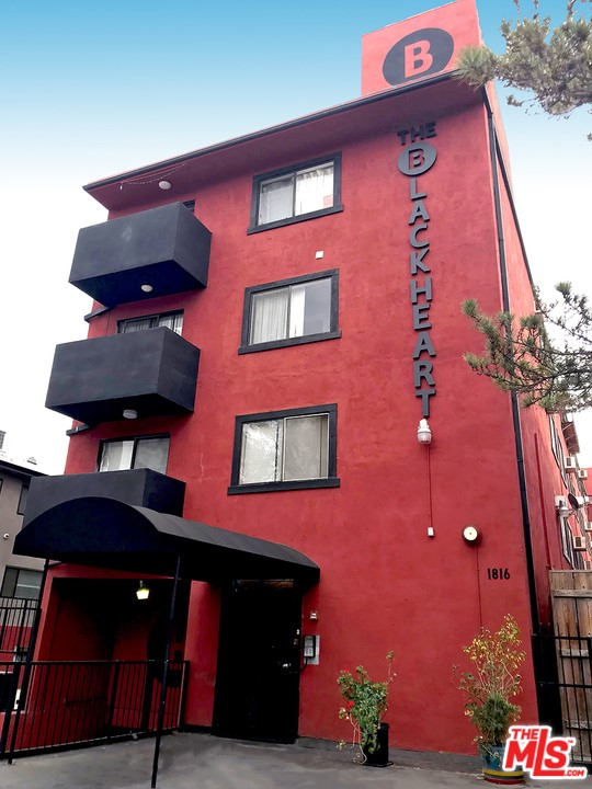 The Blackheart is a 4-story, 25 unit building consisting of 22, 1-bedroom + 1 bathroom units and 3 studios with private balconies. Built in 1988, there is no rent control from the city of LA with this building. Although the building does not fall under the Los Angeles Rent Stabilization Ordinance, it is still subject to the State of California rental laws. Being in the heart of Hollywood puts the Blackheart locale by the entertainment capital of the world, with many of the major film and TV studios nearby.  Just 3 blocks from the American Film Institute, a 10-minute walk to Griffith Park, and 3 blocks to the Western/Hollywood Subway Station. The building has been well-maintained and recently painted, has an elevator, and is controlled access with gated parking. The building is all-electric with no gas. Each tenant pays their own utilities except the 3 studios, which are paid for by the owner. Most units have their own hot water heater. There are 2 secure gated parking areas, one is alongside the building for one car and subterranean parking with 23 spaces. There are also 2 large storage spaces in the building. Drive-by only, Please do not disturb tenants. Easy to show!