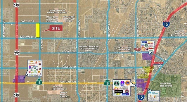 40 acres of vacant industrial land on Mojave Dr. in Victorville. Light Industrial (M-1T) zoning allows for a variety of uses compatible with nearby nonindustrial districts. Property boasts nearly 700 feet of frontage on Mojave Dr on the south and Cactus Rd on the north. Mojave has direct access to Highway 395 and Interstate 15 as major transportation routes. All utilities are nearby. Current industrial trends make this a great opportunity for any investor or developer.