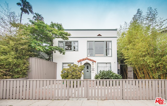 Lovingly restored 1920s Spanish compound in the heart of Venice. Surrounded by mature bamboo and sharing a generous 5600 sqft lot sits three character-filled units and a large artists studio w/ plans to become a Junior ADU (Unit #4). This private Venice oasis encompasses an exquisite 2+1 (plus den) upper-level unit, a private 1+1 lower level suite, a bright open 1+1 detached guest house, AND a sprawling artists studio with plans to become a Jr ADU. The buyer can take over the permitting process that's already underway w/ architect drawings submitted to the city. Owners and tenants alike can enjoy the expansive and lushly landscaped rear yard along with all the finer character details, from the oversized double-hung wood windows to the original hardwood oak floors. Fit with marble countertops, new appliances, tankless water heaters, and a separate washer/dryer for each unit, this property has it all and in the best part of Venice -- walkable to Abbot Kinney, Rose Ave, and under a mile to the beach! Guesthouse and Artist studio can be delivered vacant at close of escrow.