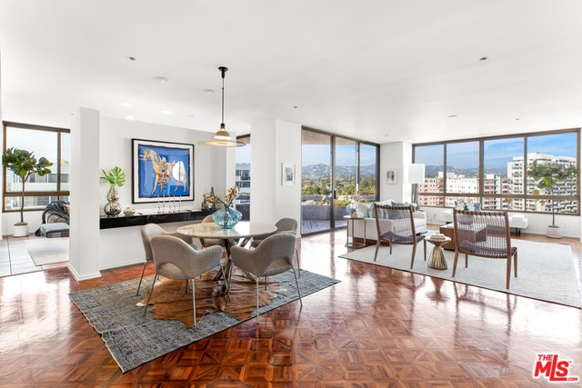 Welcome to the Mirabella Luxury high-rise living at its finest. A sophisticated 2 bedroom plus Den, 2,800+ sf condominium in the heart of the Wilshire corridor. Enter through double doors to a spacious open living room, complete with fireplace, wet bar, terraces, and floor-to-ceiling windows. Kitchen includes center island and dedicated breakfast area. Master suite features outdoor terrace, fireplace and large walk in closet. Master bath is spacious and includes vanity, dual sinks and soaking tub. Second en suite bedroom offers beautiful corner views from terrace and has custom built-ins. Building amenitie include 24/7 security/concierge, valet parking, community room w/catering kitchen, pool/spa, gym and sauna. A lifestyle of privacy and comfort awaits.