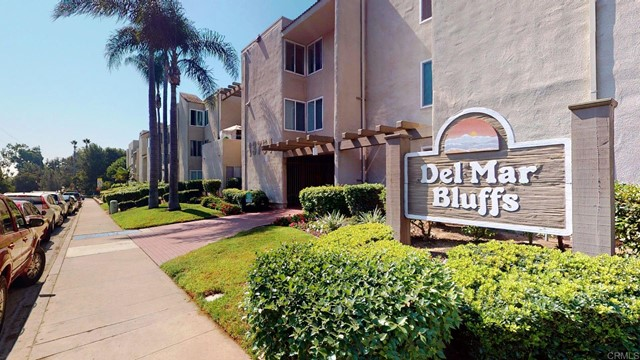 Would you like to enjoy your mornings in a sun-filled kitchen of a cute 2bd 2ba Del Mar Bluffs condo with your pet??? Welcome home!!! Where you are just a few blocks drive to downtown Del Mar, Del Mar racetrack/fairgrounds, BONUS!! shopping center across the street with grocery store, Starbucks, AAA, CVS. If that isn't enough there are plenty of places to dine out across the street plus One Paseo just a mile down the street. In this hide away you will be centrally located in San Diego County and freeway cWould you like to enjoy your mornings in a sun-filled kitchen of a cute 2bd 2ba Del Mar Bluffs condo with your pet??? Welcome home!!! Where you are just a few blocks drive to downtown Del Mar, Del Mar racetrack/fairgrounds, BONUS!! shopping center across the street with grocery store, Starbucks, AAA, CVS. If that isn't enough there are plenty of places to dine out across the street plus One Paseo just a mile down the street. In this hide away you will be centrally located in San Diego County and freeway close, making you less than a 30 minute drive to the airport and most of what San Diego has to offer. With small pets approved in the building and the area having so many dog beaches, park friendly, and walking trail type places to enjoy the evening with your best friend, you must see just how close you'll be to an incredibly beautiful views and year round atmosphere that is Del Mar. Once you park behind the security gate in your assigned parking spot at night, you'll find this second floor unit is well insulated through out the year keeping utilities to a minimum. Close to your parking is one of the 2 elevators in the building as well as 2 Laundry facilities on the lower level you'll find everything close by your new home on the weekends. Mounted smart TV's in master bedroom and Living room area have wires run in the wall, they come with remotes and are ready to plug in when you get home on day one.