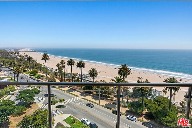 Best value location and views in the building! Front facing forever ocean views with sand/ocean views south towards the pier and Santa Monica City. This stunning unit has been remodeled and updated and is ready for move in.   The open floor plan is not to be missed, featuring a gourmet kitchen, top of the line appliances, natural walnut floors, Carrera marble, limestones baths, Water Works fixtures, steam shower, and spa tub. The building is FULL SERVICE! w/ 24 hr security, valet, gym, pool, spa. This is the best location in Santa Monica in the ultimate full service building.   Offered for both lease and sale.
