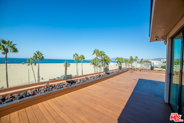 This is the premier rooftop penthouse on the Santa Monica Bay offering panoramic views of the the Bay, the Mountains and the City. Featuring a state of the art audio visual platform for live entertainment and streaming. Video of outdoor area: https://youtu.be/FHpWFmPDdPU
