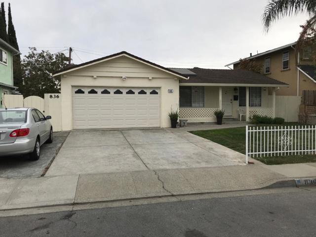 836 Lexington Street, Milpitas, CA 95035