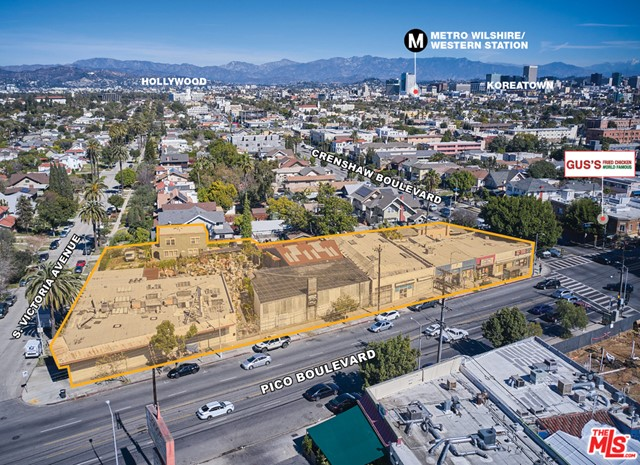 This 52,738 square foot development opportunity consists of the entire block between Crenshaw Blvd and Victoria Ave in Mid-City. This development lot is zoned C4-1-O; R1-1-O-HPOZ in a Tier 3 TOC and presents an investor the opportunity to build 189 units utilizing the TOC benefits; there are currently no plans or entitlements in place.The subject property is being offered at a low price per square foot of $239. The current site consists of 7 retail units on month-to-month gross leases with a total income of $425,400 gross annually which includes $600 annual billboard income, plus two single-family residences, allowing the developer the ability to collect income while conducting the entitlement process.Mid-city is a densely populated neighborhood with historical and architectural significance. The demand for apartment units continues to increase year-over-year in this submarket with such close proximity to job and educational opportunities in Downtown Los Angeles, as well as the numerous transportation options available for an easy commute throughout the city.The subject property is surrounded by retail shops and restaurants on W Pico Blvd, north on W Olympic Blvd, south on Washington & Venice Blvd, and east on Western Ave.