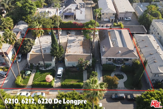 6220 De Longpre, LA, 90028. Included in sale with 3 separate properties in a row for sale together near Sunset & Vine. Tons of development and upside in the area. 6210/12, 6214/16, 6220 De Longpre. Not for sale separately; must be purchased together. 6210/6212 (Duplex), 6214/6216 (Duplex), 6220 (Fourplex) combined 8 Unites, 9,360 Sqft living space and 20,275 Sqft combined Lot/Parcel area. Please see each listing for specifics on current rental income and expenses. Delivered with tenants except for one unit in 6214/6216 which will be delivered vacant. Properties are certified TOC Tier III and can be combined by the savvy investor. The properties have been identified in the California Historical Resources Inventory as contributors to the Afton Square Historic District. Seller very motivated. Parcels included in sale 554-602-2002, 554-602-2003, 554-602-2004. Call for more info/options.